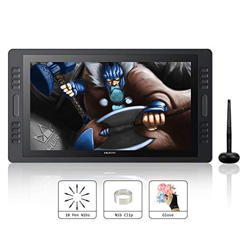 HUION KAMVAS Pro 20 Tabletas gráficas Pantalla HD Interactiva de 19,53 Pulgadas Tableta Gráfica 8192 Niveles Presión del Lápiz Óptico sin-batería, 8 Teclas Express y Barra táctil