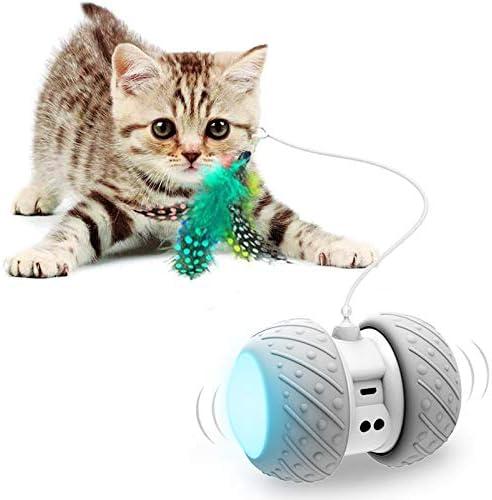 Interactive Robotic Cat Toys Automatic Irregular USB Charging 360 Degree Self Rotating Ball product image