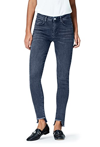 Amazon-Marke: find. Damen Skinny Jeans mit hohem Bund, Blau (Mid Blue), Medium