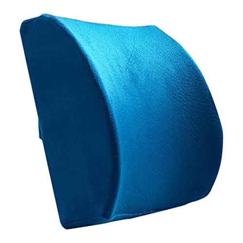 Cojín de Espuma viscoelástica para la Espalda Lumbar para aliviar la ciática y el Dolor de Espalda, Almohada para la Espalda Lumbar, para Oficina, hogar, Coche, Asiento de Coche