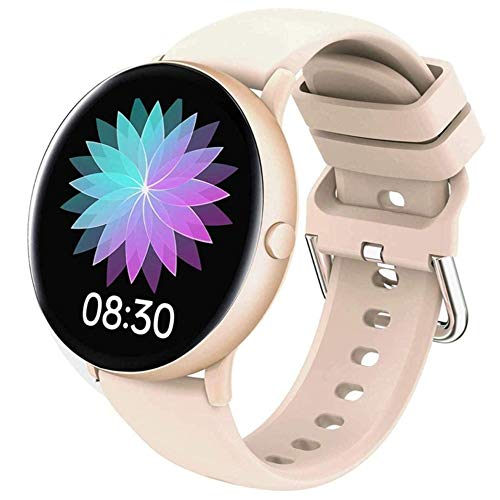 Angelay-Tian Smart Watch, 1.3 Pantalla táctil Completa Smart Reloj Monitor de Ritmo cardíaco Bluetooth Presión Arterial Fitness Tracker SmartWatch Aplicable Personas Negocios, Público, Moda, Asulto