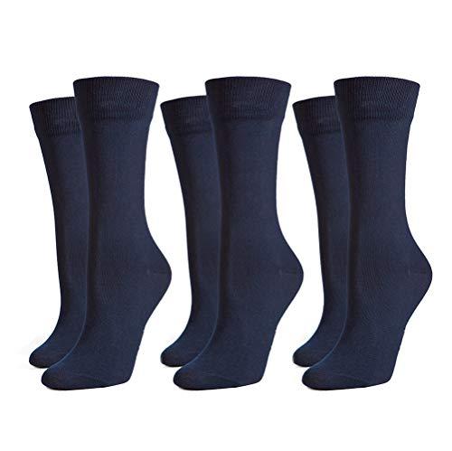 Safersox 3er Pack Classic Mückenschutz-Socken, 35-38, 3er Vorteilspack Dunkelblau