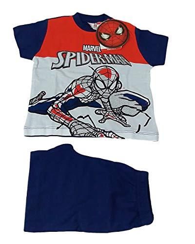Pijama de verano corto para niño de algodón Marvel Spider Man para hombre araña 12 meses