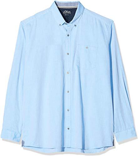 s.Oliver Big Size Herren 15.912.21.7211 Freizeithemd, Türkis (Tourquoise 6295), XXX-Large (Herstellergröße: 3XL)