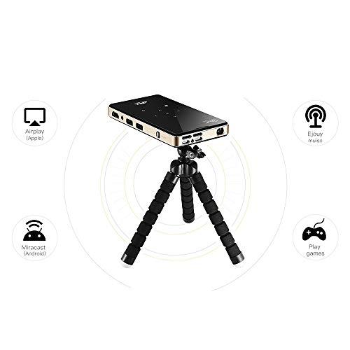 MSG ZY draagbare projector, led-videoprojector 4K HD 1080P HDMI/TF/AV/USB, mobiele telefoon met hetzelfde scherm, draadloze projector, ondersteuning voor Android/iOS/Windows