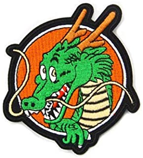 Shenlong Logo Patch Dragon Ball Z DBZ GT Military Patch Fabric Embroidered Badges Patch Tactical Stickers for Clothes with Hook & Loop