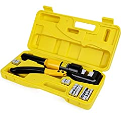 DURABILITY & SAFETY: Made of durable materials with high strength and good toughness. When the pressure reaches the maximum value, just twist the button, it will release automatically. HUMANIZED DESIGN: With this professional crimper, you can crimp w...