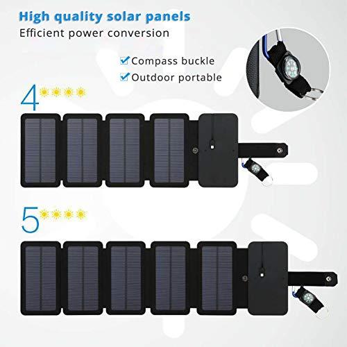 LAMP-XUE zonnepaneel draagbare oplader 10 W 5 V 2,1 A Sunpower opvouwbaar zonnepaneel accu voor mobiele telefoon camping in de buitenlucht