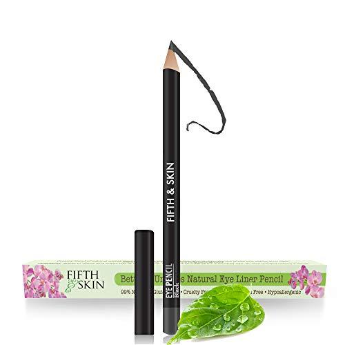 Fifth & Skin Better'n Ur Eyes Eyeliner Pencil (BLACK) – NATURAL - Hypoallergenic - Great for Sensitive Eyes - Gluten Free - Vegan - Cruelty Free - Paraben Free - Smooth Application