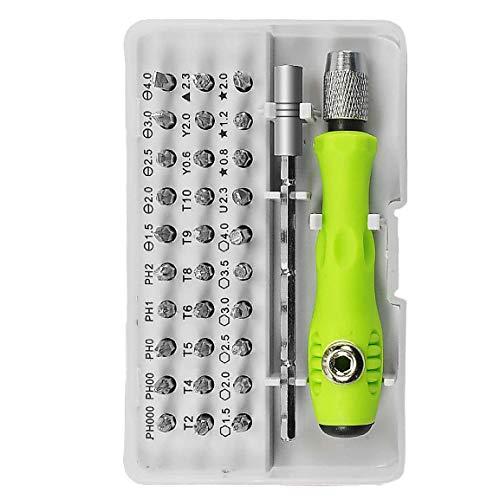 Timagebreze 32 en 1 con 30 Bits Juego de Destornilladores Kit de Destornillador de PrecisióN Juego de Destornilladores PequeeOs Juego de Destornilladores MagnéTicos