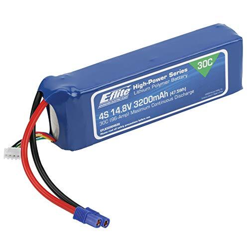 E-flite 3200mAh 4S 14.8V 30C Li-Po, 12AWG: EC3, EFLB32004S30