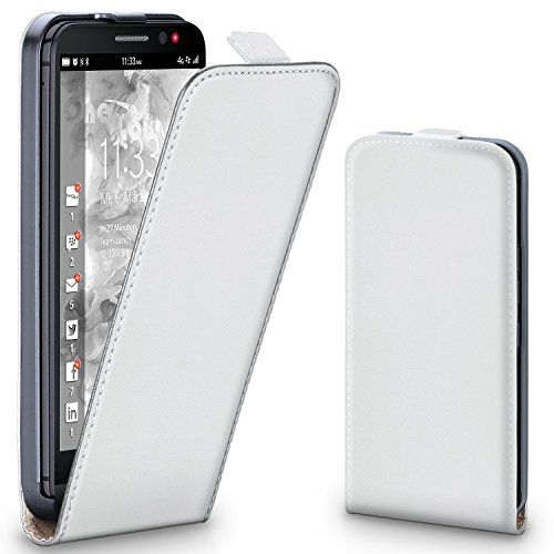 MoEx® Flipcase kompatibel mit BlackBerry Z30 | Klapphülle Handytasche mit Rundum Schutz - Handy Hülle Klappbar Flip Case, Weiß