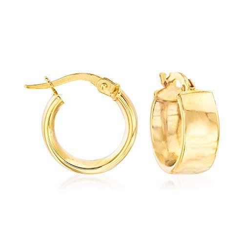 14k italian white gold earrings - 8