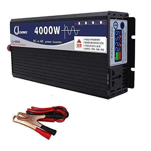 XBNBQ Wechselrichter 600W 1000W 2000W 3000W 4000W 5000W 6000W Reiner Sinuswelle 48/60v auf 220v Transformator Stecker Dual USB Auto für Auto LCD Monitor, iPhone, iPad und Tablet Laptop48V-4000W
