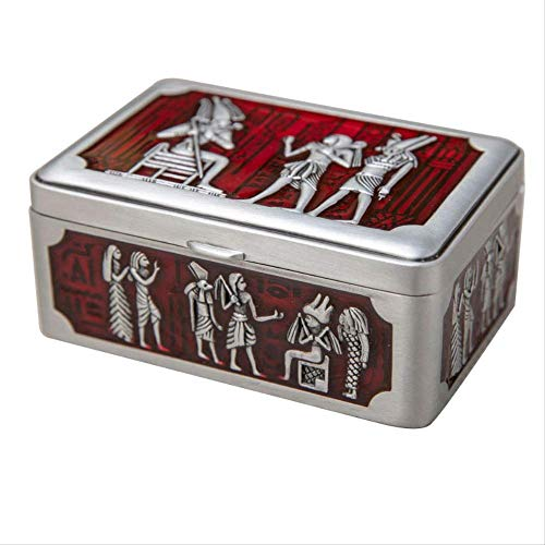 El joyero tiene una forma novedosa y única, un dis Caja de joyería Egipto Tarjeta Tinket Caja Metal Joyería Organizador Egipto Decoración Art Craft Necklace Pulsera Anillos Estuche de almacenamiento