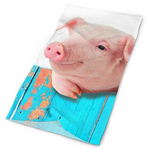 Quintion Robeson El Cerdo Divertido deslumbra la Capa Protectora Fresca de la toallita a Prueba de Viento, la Venda de la Venda del paño