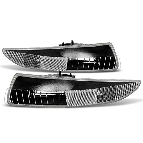 ACANII - For 1993-2002 Chevy Camaro Black Housing Front Bumper Parking Lights Turn Signal Lamps Assembly Set Left+Right