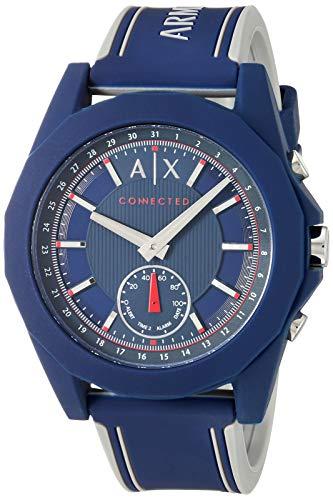 Armani Exchange Reloj para Unisex de Cuarzo con Correa en Silicona AXT1002