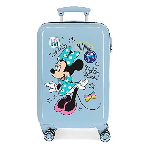 Disney Love Minnie Maleta de Cabina Rosa 34x55x20 cms Rígida ABS Cierre combinación 32L 2,5Kgs 4 Ruedas Dobles Equipaje de Mano
