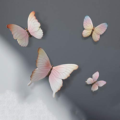 JYDQM Mariposa Pared Colgando Sala de Estar sofá Fondo Fondo Pared decoración Colgante Creativo Dormitorio Dormitorio decoración de la Pared (Size : 4 Pink)