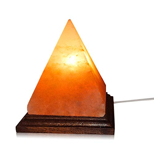 New Modern Pyramid Design Himalayan Rock Salt Lamp. Perfect Homely Gift Featuring...