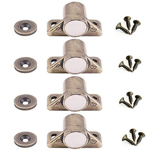 mciskin Magnetschnäpper Schrank Türmagnet Magnet-Schnapper Möbelmagnet Türverschluß Haltemagnet Magnetverschluss,Schrankbeschläge(4 Stück)