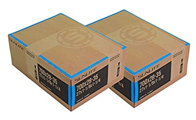 Street Fit 360 2 Pack - Bike Tube, Presta Valve 700c x 28-35, (27x1-1/8 to 1-1/4), 48mm Presta Valve, Bicycle Inner Tube, Sunlite