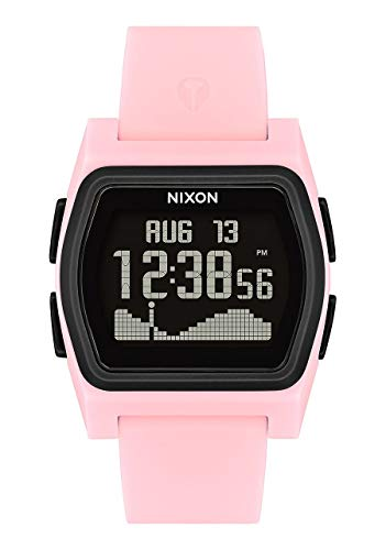 NIXON Rival A1236 - Pink/Black - 100m Water Resistant Women's Digital Surf Watch (38mm Watch Face, 20mm-19mm Pu/Rubber/Silicone Band)