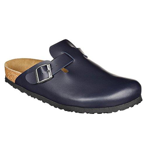 JOE N JOYCE Amsterdam Clogs für Normale Fussbreiten, Größe: 38 EU, Farbe: Blau, Material: SynSoft, Hausschuhe, Pantoffeln, geschlossene Sandalen
