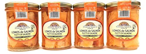 Lomos de Salmón en Aceite de Oliva Ahumado COSTA VASCA - 200g - [4 unidades]