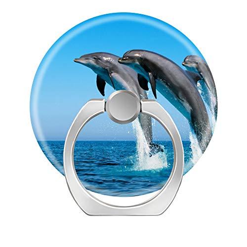 Soporte de anillo de dedo, 2 unidades, rotación de 360 grados, soporte de anillo de teléfono celular, agarre de anillo para iPhone, Samsung Galaxy, smartphones y tableta, funda para saltar delfín