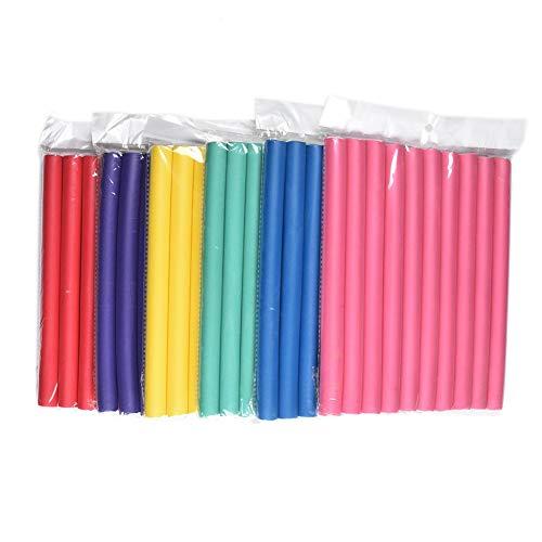 """0.8cm Diameter Flexi Rod 2 Pack Deal Spiral Hair Foam Curler Roller Set, 10 Rods per Pack Twist Curls Flex Rods, Length 9"""""""