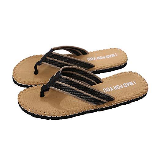 HDUFGJ Herren Zehentrenner Flip Flops Sandals Badeschuhe Beach Hausschuhe Slim Anti-Skid Plush Erwachsene Pantoffeln Sandalen Clogs & Pantoletten Pantoffeln Anti-Skid 41 EU(Gelb)
