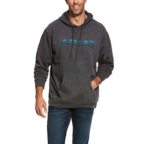 ARIAT Men's Graphic Hoodie Charcoal Size Medium