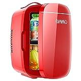 Portátil Mini Nevera Cosmeticos, Mini Nevera 6 litros/8 latas, Nevera Pequeña y Silenciosa para Skincare, Alimentos, Bebidas, Cuidado de la piel, Mini Refrigerador 12V/220V para Enfriar y Calentar