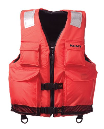 Kent Elite Dual Size Commercial Life Vest - Persons over 90-Pounds. (Orange, Small/Medium, 32-40-Inch Chest)