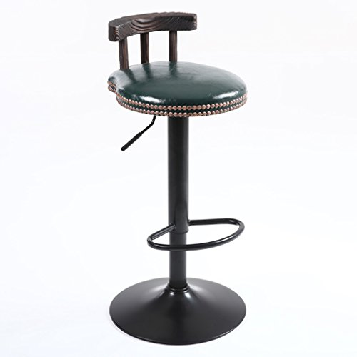 ZWL Bar Chaises, tables et chaises Tabouret haut Bois massif Retro Imitation Métal Mode Rotation classique de levage Café Bar Club H75cm-95cm mode (Couleur : C)