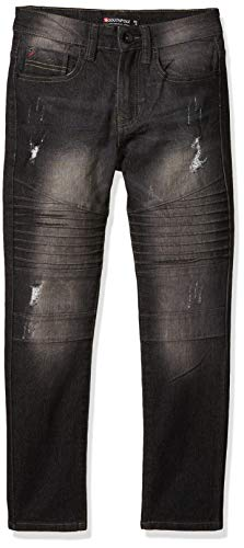 Southpole Boys' Denim Pants, Black Sand Signature, 12