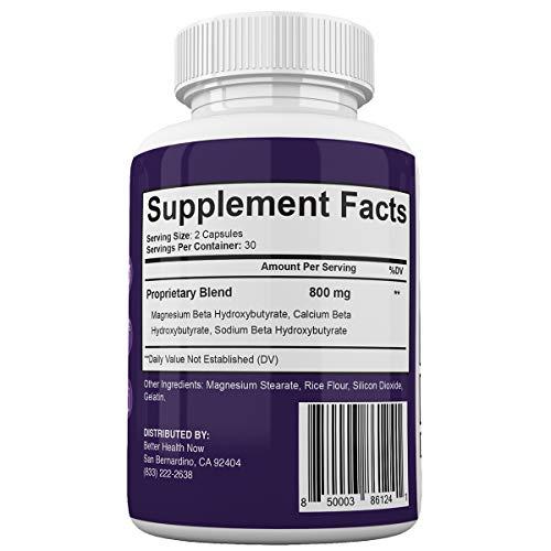 BioOneGen Keto Shred - Burn Fat Fast for Energy Hack - Beta BHB - Gluten Free - 30 Day Supply - 60 Capsules 6