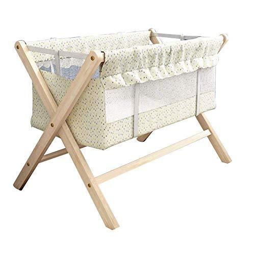Rocking Crib Klamboe Opvouwbaar X Type Geschikt for Swinging baby Niet giftig geen geur Wood corrosiebestendig, 2 Styles (Color : A)