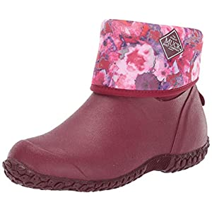 Muck Boot Women's Muckster II Mid Ankle Boot, Red/Multi Floral, 10 Medium US