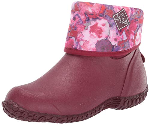 Muck Boot Women's Muckster II Mid Ankle Boot, Red/Multi Floral, 8 Medium US