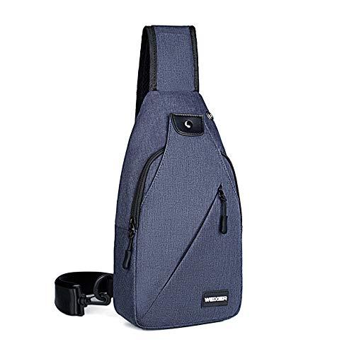 One-Shoulder Bag Lightweight Backpack Waterproof Chest Bag Sloping Bag Multi-Pocket Men's Bag 1