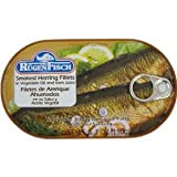 Smoked Herring Fillets Rugenfisch Filets de Hareng Fumes 6.7 oz (10 PACK)