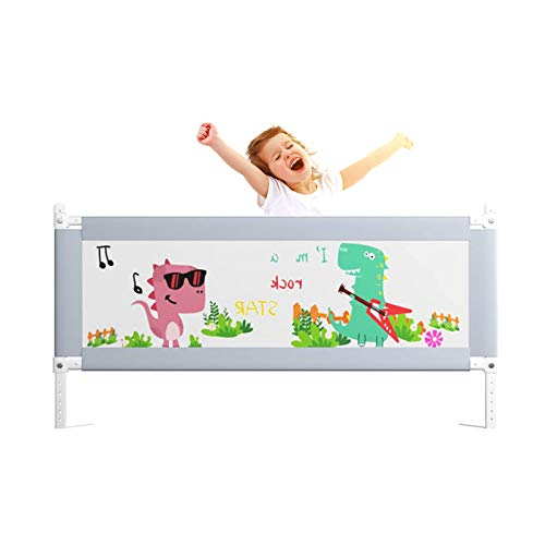 Toddler Bed Rail Guard for Kids Twin, Double, Full Size Queen & King Mattress - Bed Rails for Toddlers - Universal Fit for Slats - 47″/60″/70″/80″/86.6″ Gray (1 Side),120cm/47in