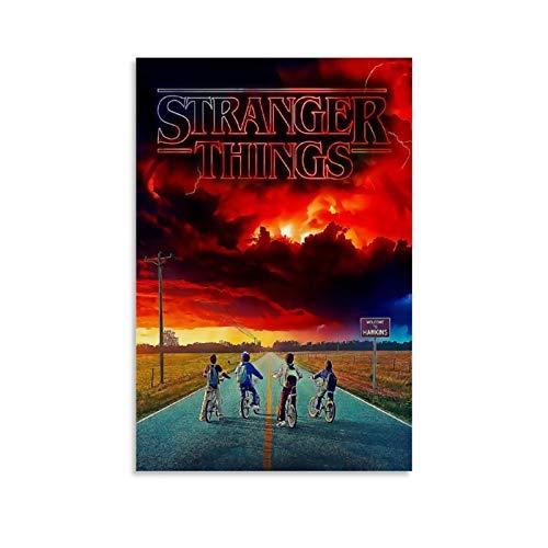CHAOZHE - Poster su tela con immagine di Stranger Things Pop Dramas, 30 x 45 cm