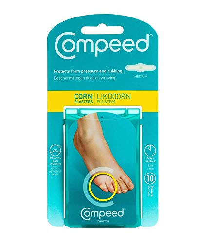 Compeed Advanced Corn Care 10 Count Corn Toe Pads (2 Packs), Hydrocolloid Bandages, Feet Patches, Corn on Foot, Plasters, Foot Corn Prevention & Treatment Help, Waterproof Cushions