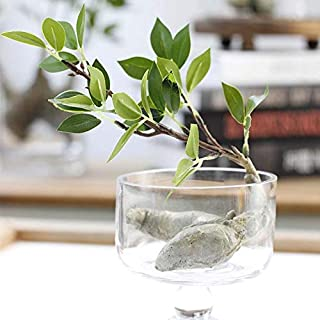 Jindroslove Artificial Plastic Banyan Tree Branch With Fat Root Green Leaves Decoration Bonsai Fake Flowers - Flowers Dried Artificial
