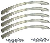 AERZETIX: Tirador para cajón alacena puerta mueble armario Oural inox 128mm (5 piezas)