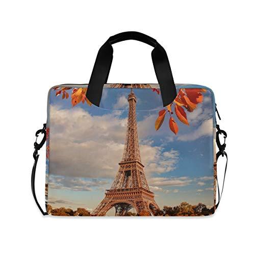 XIXIKO Paris Eiffel Tower Seine River Laptop Bag Expandable Trolley Briefcase Bag for Women Men with Detachable Strap for Work Trip Business Travel iPad MacBook